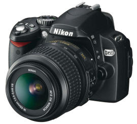 Nikon's new 10.2MP D60 will cost about $750 for a kit that includes the camera body and an 18-55mm VR lens.